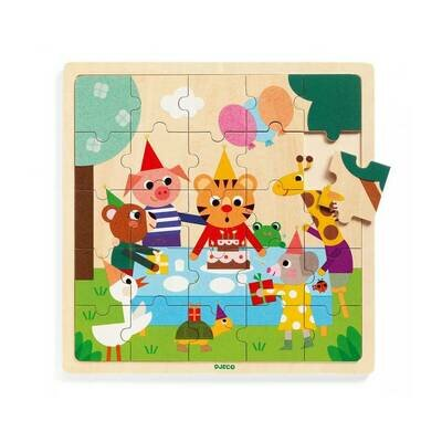 Drvene puzzle rođendanska zabava