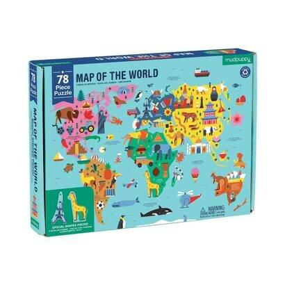 Puzzle karta svijeta