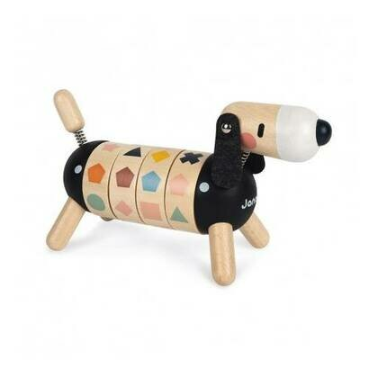 Drvena didaktička igračka psić