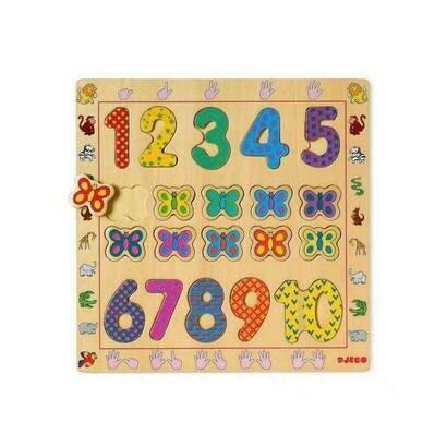Drvene puzzle brojevi od 1 do 10