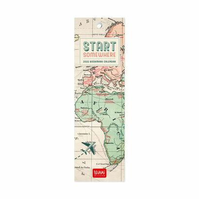Kalendar bookmarker 2022 putovanje 55 × 18 cm