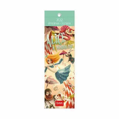Kalendar bookmarker 2022 alice in wonderland 55 × 18 cm