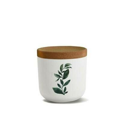 Posuda za užinu okrugla bioloco mala zeleno lišće